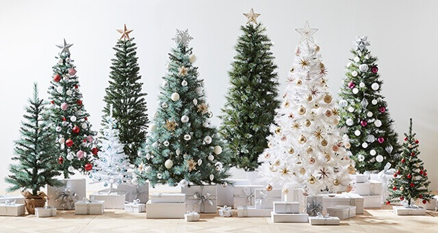 White Christmas Trees from Kmart