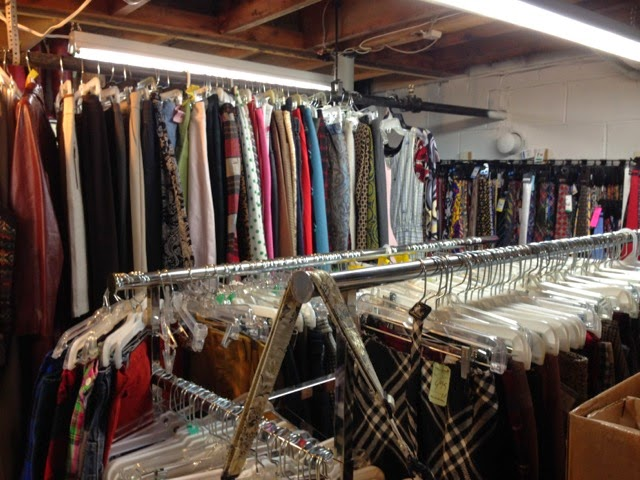 clothes storage in basement