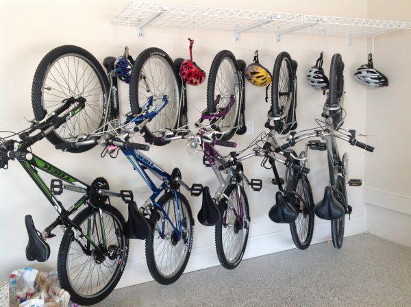 bikes on a bike rack