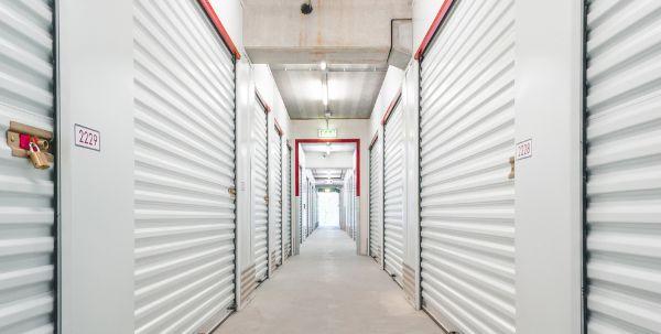 storage units in a hallway