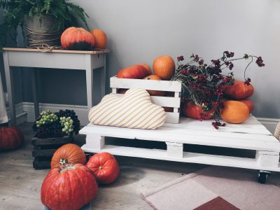 orange-pumpkin-lot-on-white-pallet-board