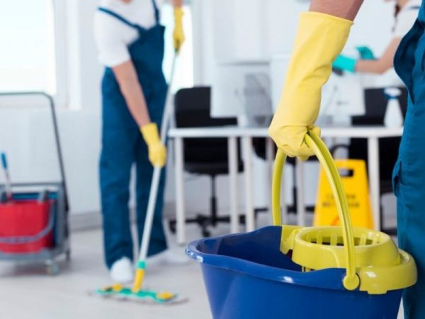 two cleaners deep cleaning a home