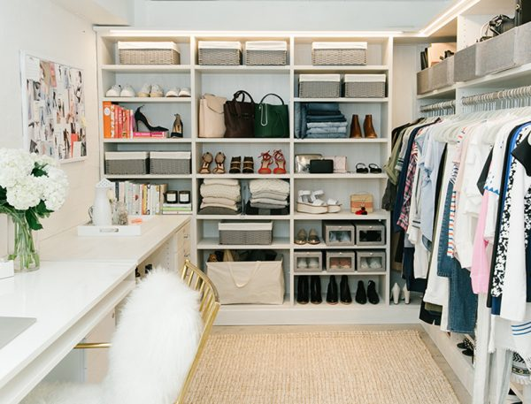 an organised closet