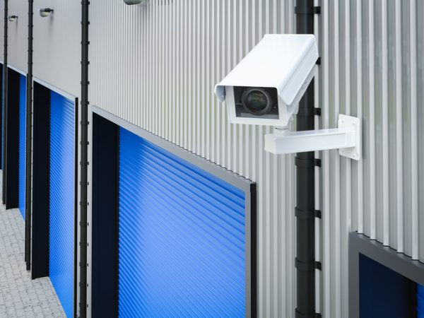 security camera in warehouse