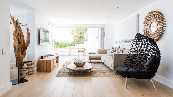 Neutral living room interiors