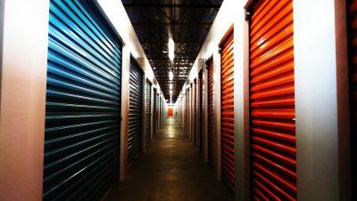 Hallway of a storage unit